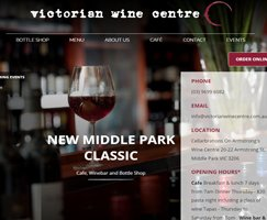 Victorian wine store wordpress site